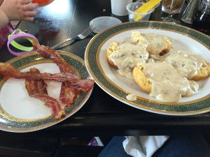 Biscuits & gravy and bacon!