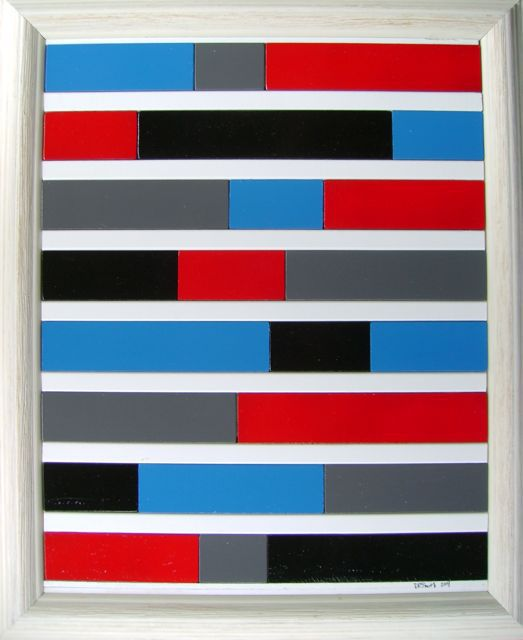 Contemporary in Red, Black, and Blue from Daryl Smith