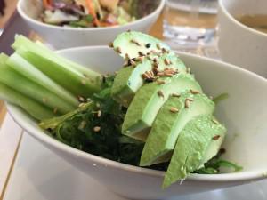 Seaweed and avocado salad