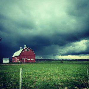 Farm during a spring storm!
