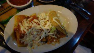 Veggie tacos and enchiladas
