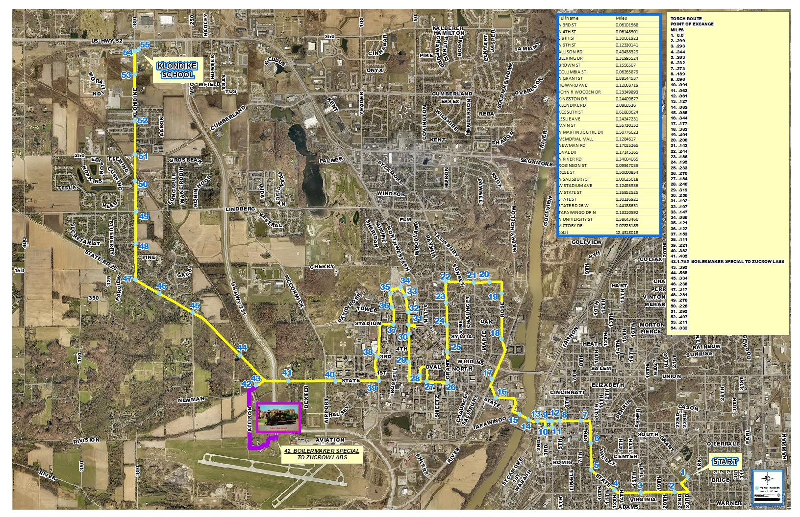 Torch Relay Map