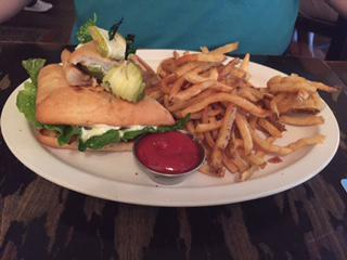 Sandwich and Fries