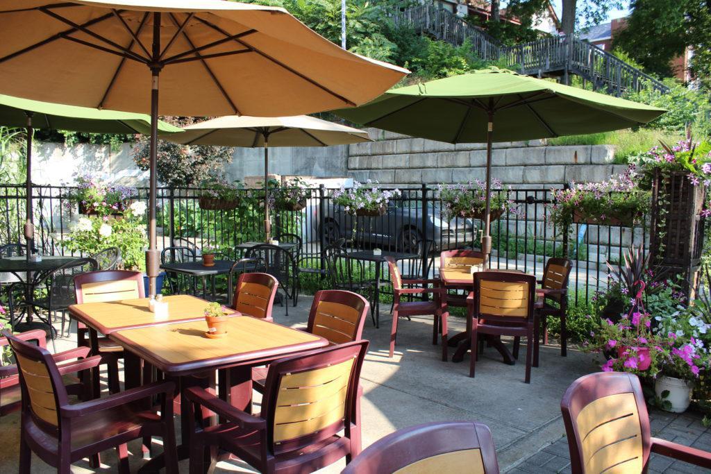 Beautiful outside patio seating area