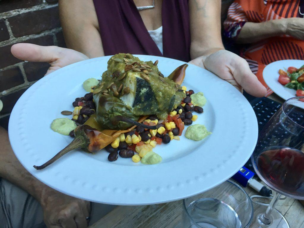 Salsa verde swordfish