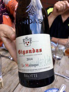 DIning Diving Gigondas Wine