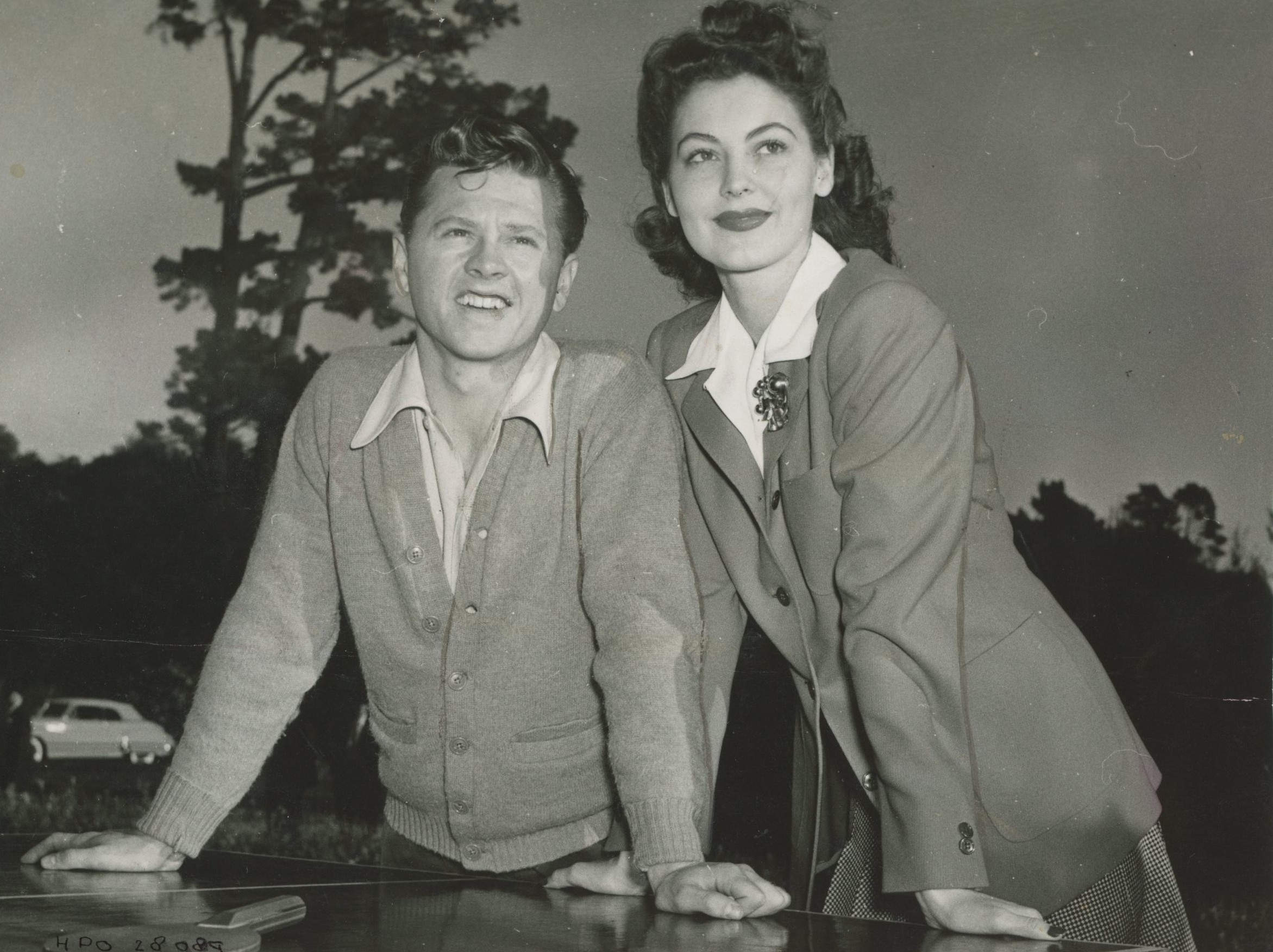 Young Ava with Mickey Rooney