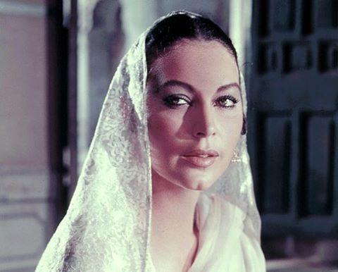 Ava in white veil Bhowani Junction