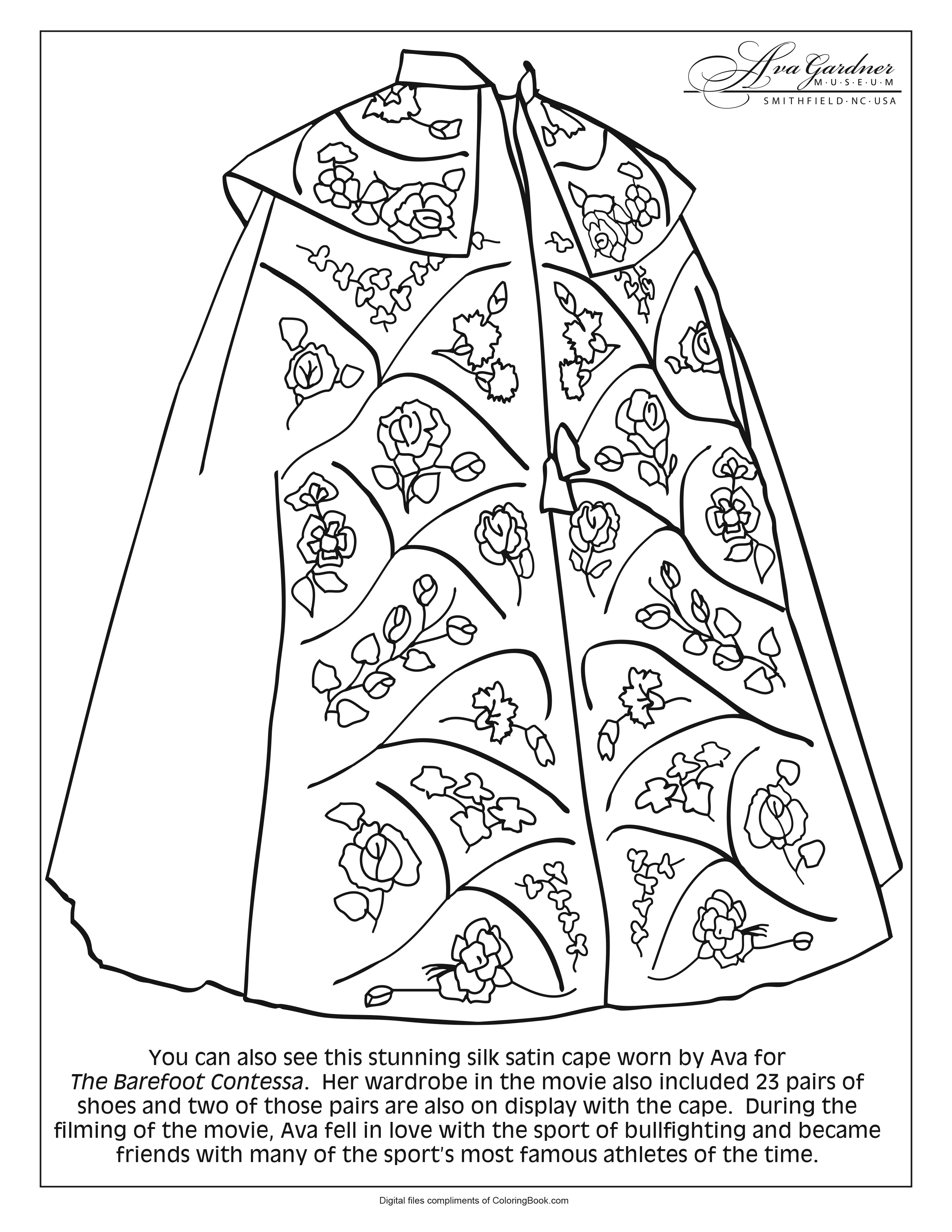 Ava Gardner Coloring Pages_4