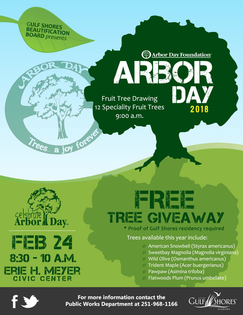 Gulf Shores celebrates 31st Anniversary as a Tree City USA on Arbor Day