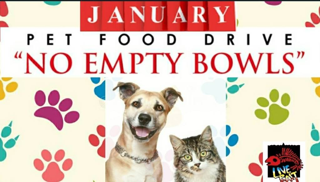 NO EMPTY BOWLS Pet Food Drive