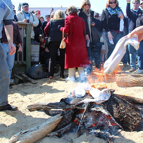 Annapolis Oyster Roast and Sock Burning
