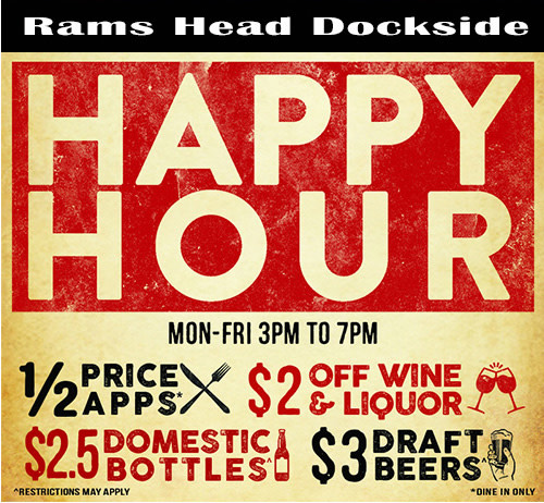 Happy Hour at Rams Head Dockside