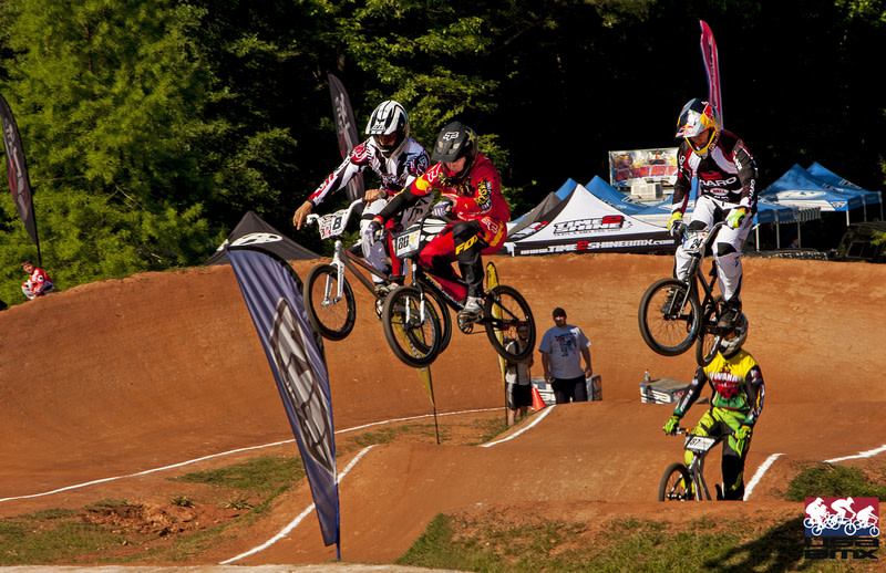 Jumping on Bikes at Chesapeake BMX in Maryland