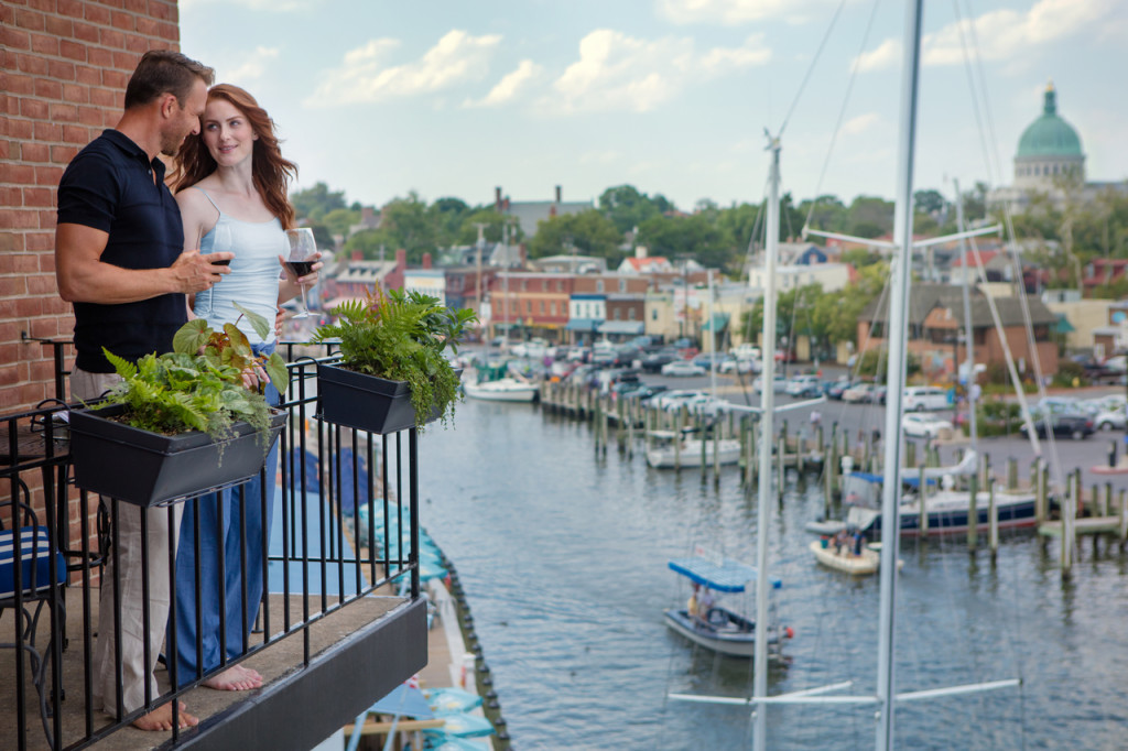 Annapolis Waterfront Hotel Waterfront Balcony View
