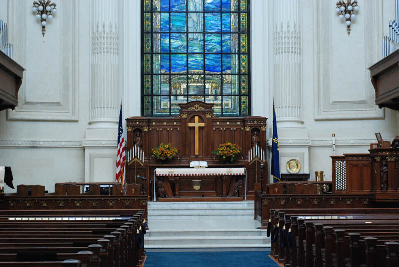 Touring the Naval Academy Chapel