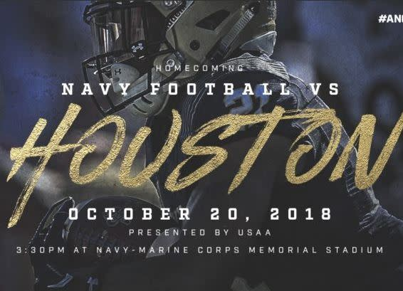 Navy Football vs. Houston - AAC Conference Game