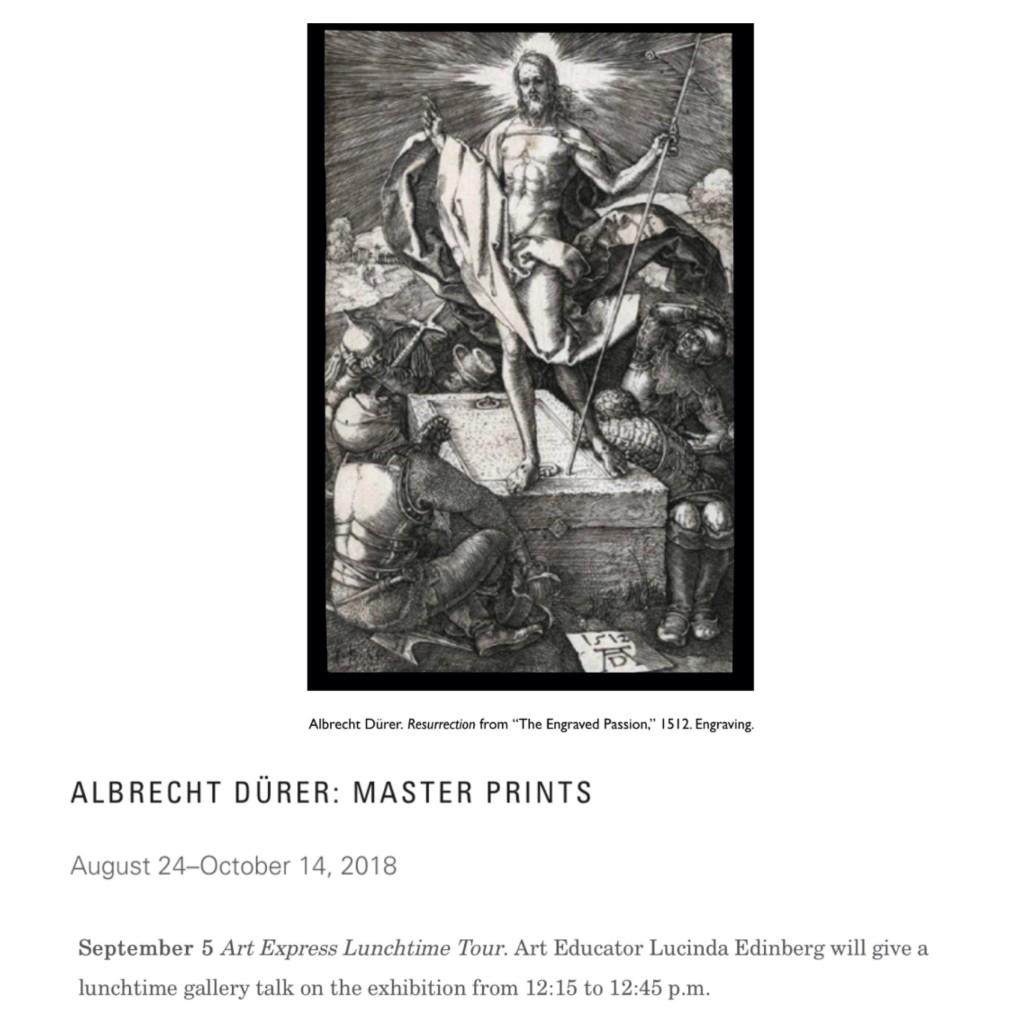 Albrecht Dürer: Master Prints Art Express Lunchtime Tour