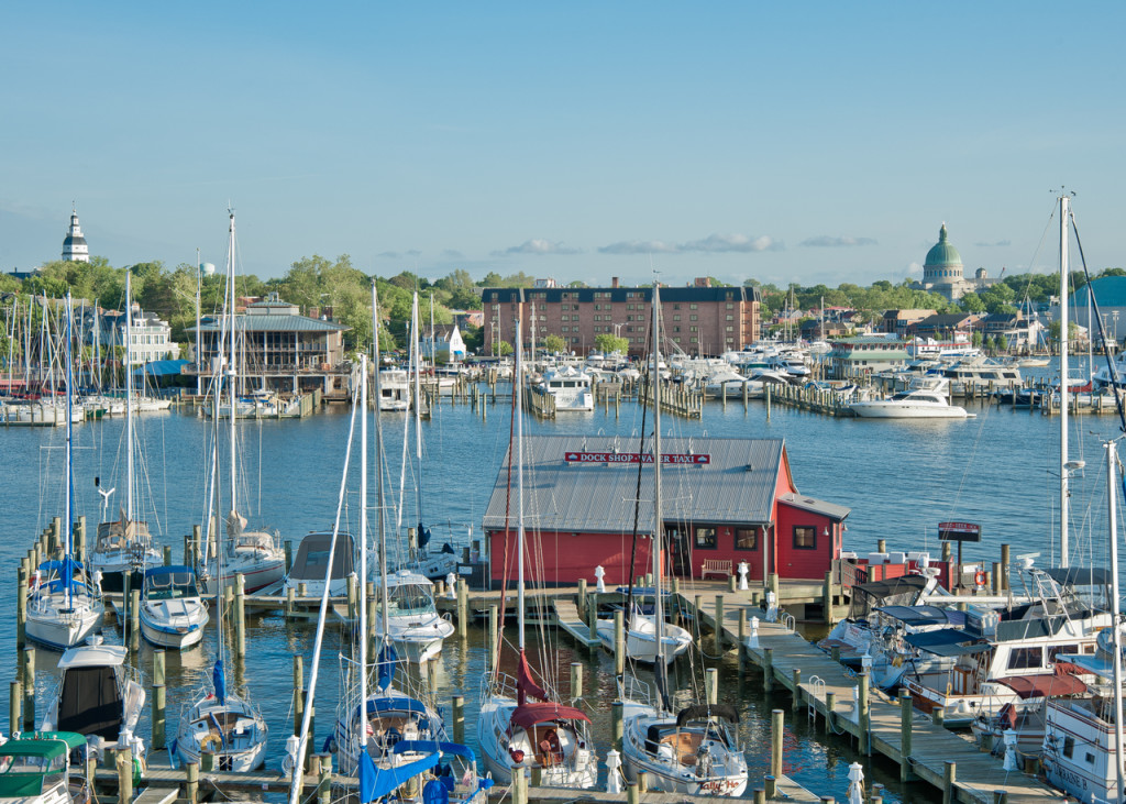 View the Annapolis Marriott Waterfront across the Eastport Bridge
