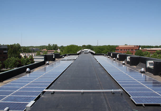 Energy Saving with our Rooftop Solar Panels, Recycling onsite.