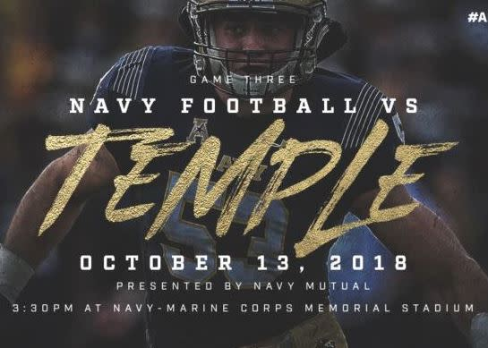 Navy vs. Temple - AAC Conference Game