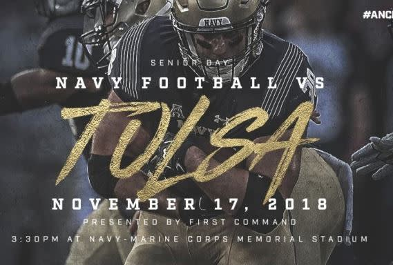 Navy Football vs. Tulsa (AAC Conference Game)