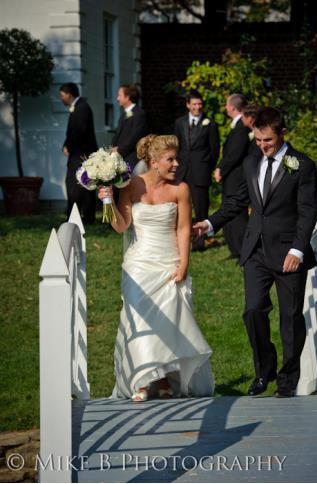 William Paca House and Gardens - Wedding - Bride and Groom Bridge