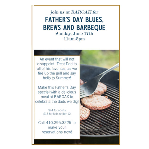 Father's Day Blues, Brews and Barbeque at BAROAK