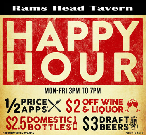Happy Hour at Rams Head Tavern