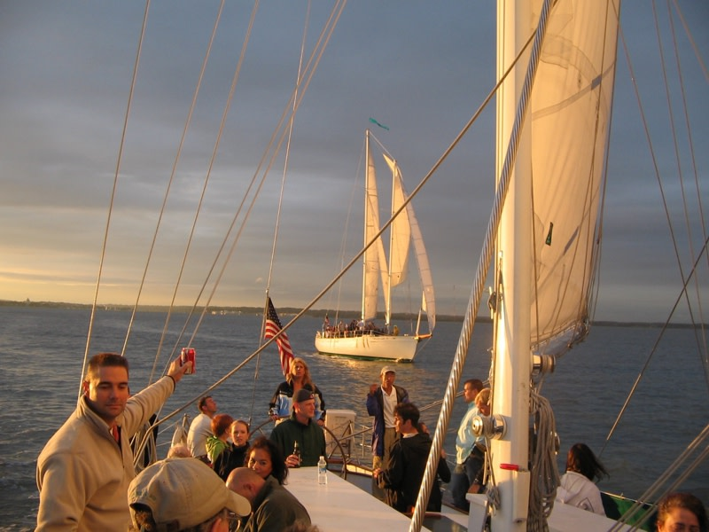 Sunset Sails on the Schooner Woodwinds