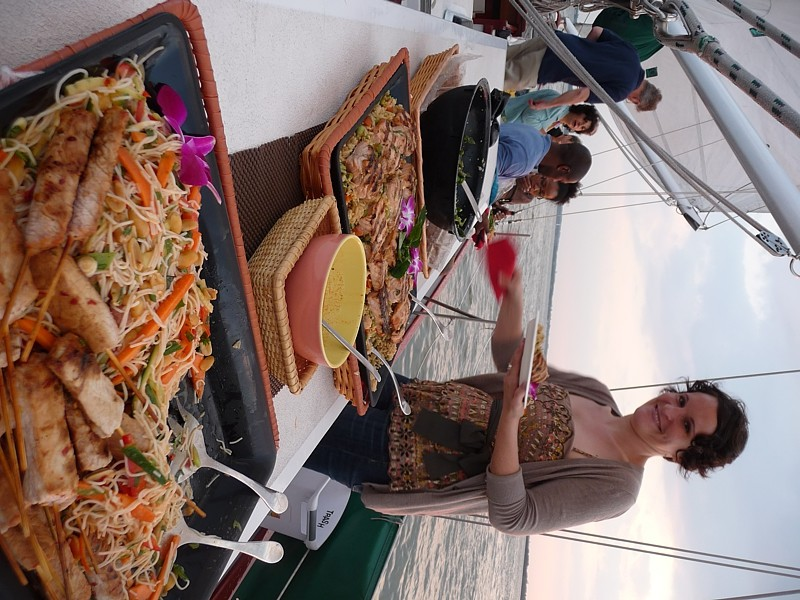 Great Food Aboard while Sailing