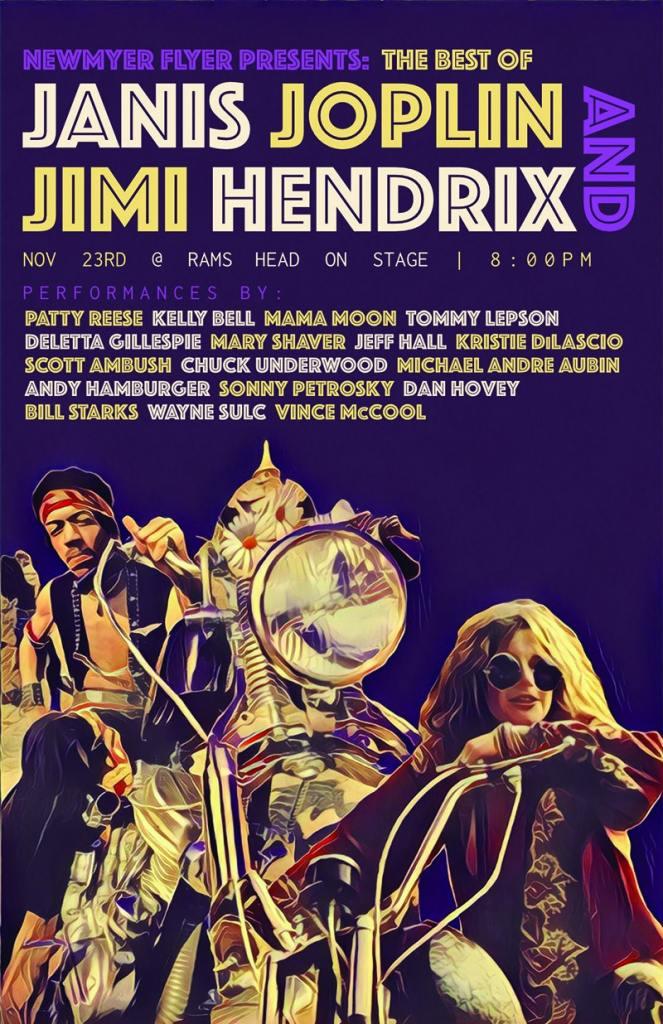 Newmyer Flyer Presents: The Best of Janis Joplin & Jimi Hendrix feat. Kelly Bell, Tommy Lepson, Patty Reese, Mama Moon