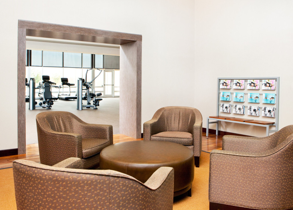 Fitness Center Relaxation Area