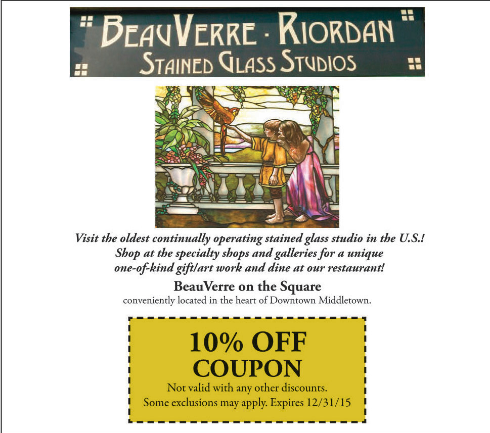 BeauVerre Riordan Stained Glass Studios 2015 Coupon