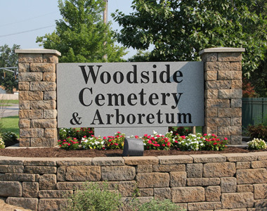 Woodside Cemetery Sign