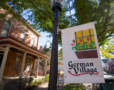 German Village Sign
