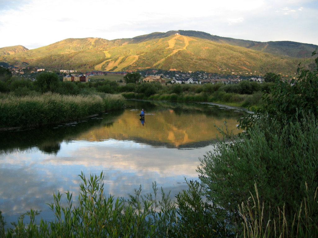 Yampa River running through Steamboat