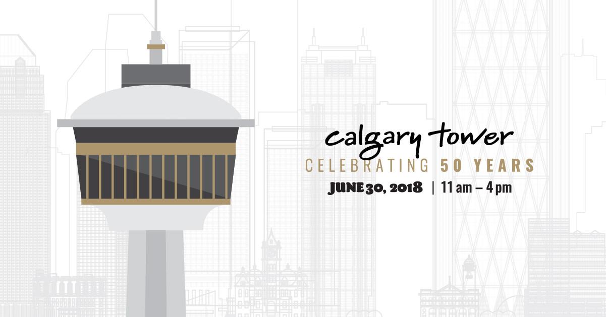 Calgary Tower 50th Anniversary Block Party