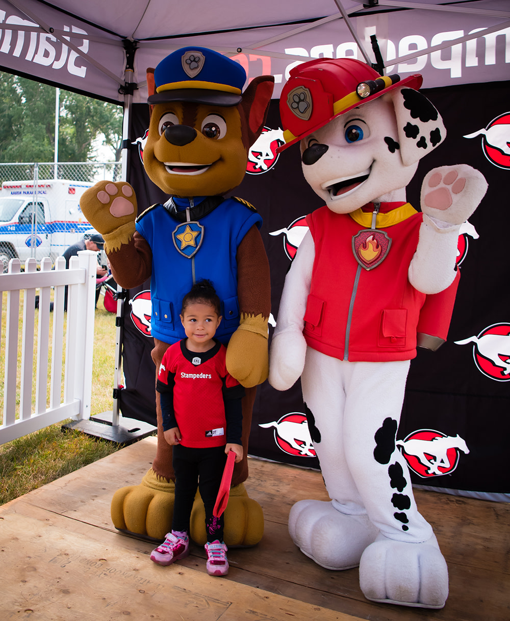 Calgary Stampeders Family Day Game
