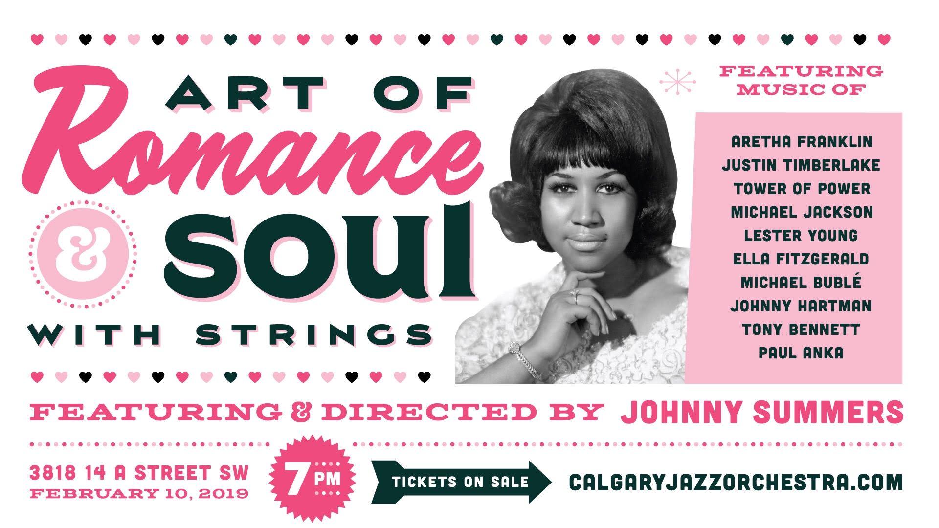 Calgary Jazz Orchestra presents: The Art of Romance, Art of Soul