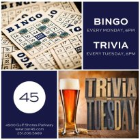POSTPONED-TRIVIA at Bar 45