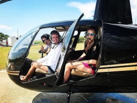 橙色沙滩直升飞机之旅