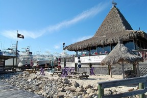 Pleasure Island Tiki Bar at Sportsman Marina