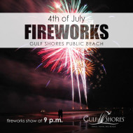 The City of Gulf Shores Fourth of July Fireworks Celebration