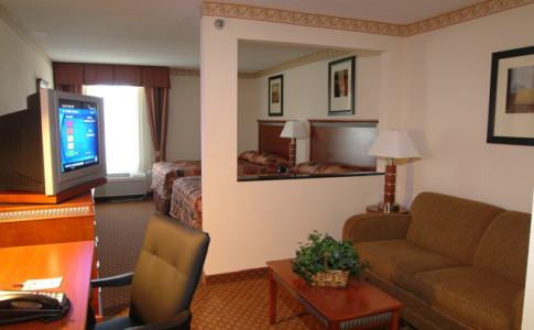 Double Queen Bedroom suite with sleeper sofa