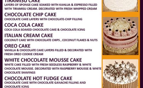 2 dessert menu