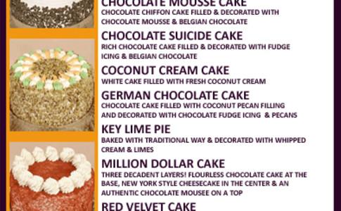1 dessert menu
