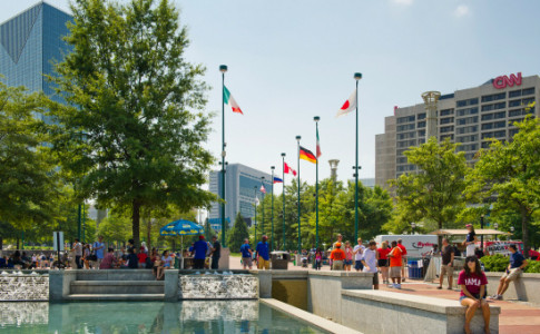 Centennial Olympic Park- Lower Fountain-550x367