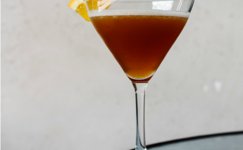 JCTea (tea infused gin, grand ma, lemon, sugar, fee bros. orange bitters) 1-resized