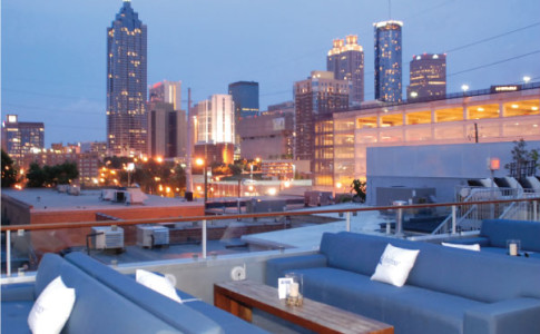 Breath-taking downtown view at rooftop Skydeck